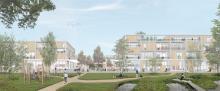 Visualisaton potentielle du site à partir des principes urbanistiques