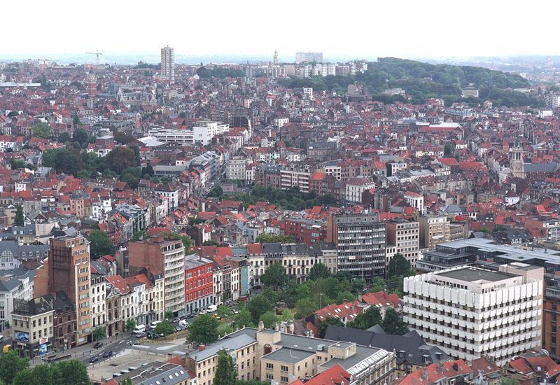 Zicht op Brussel